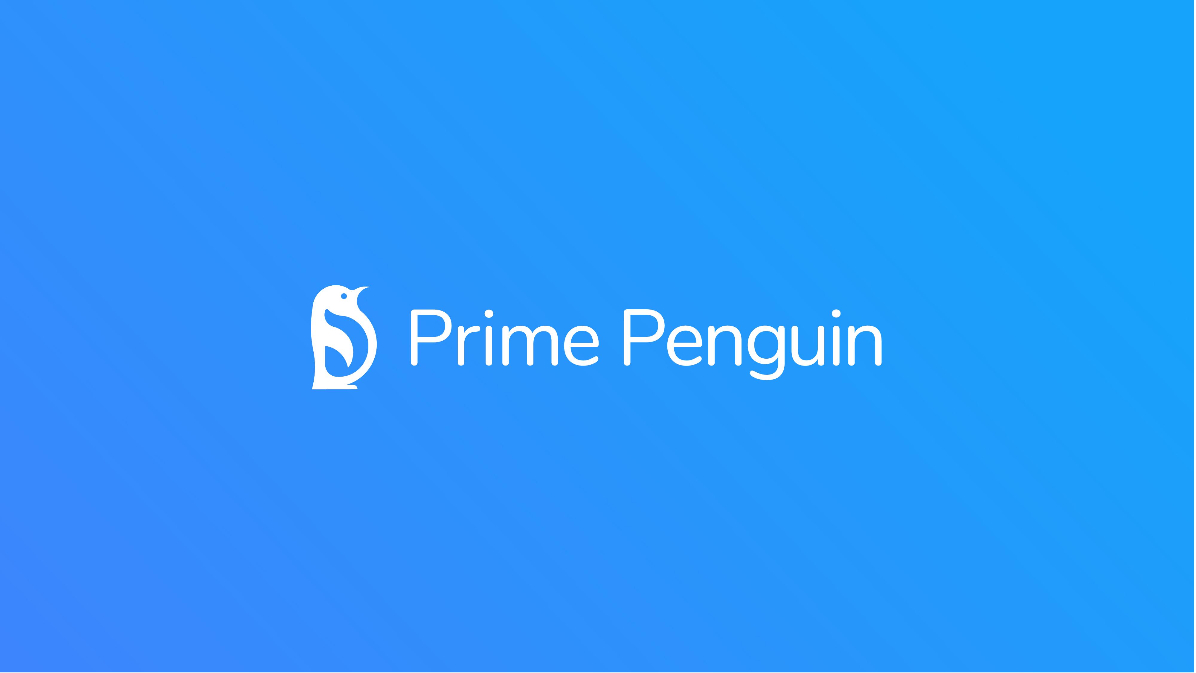 Prime Penguin – Logotype on BG