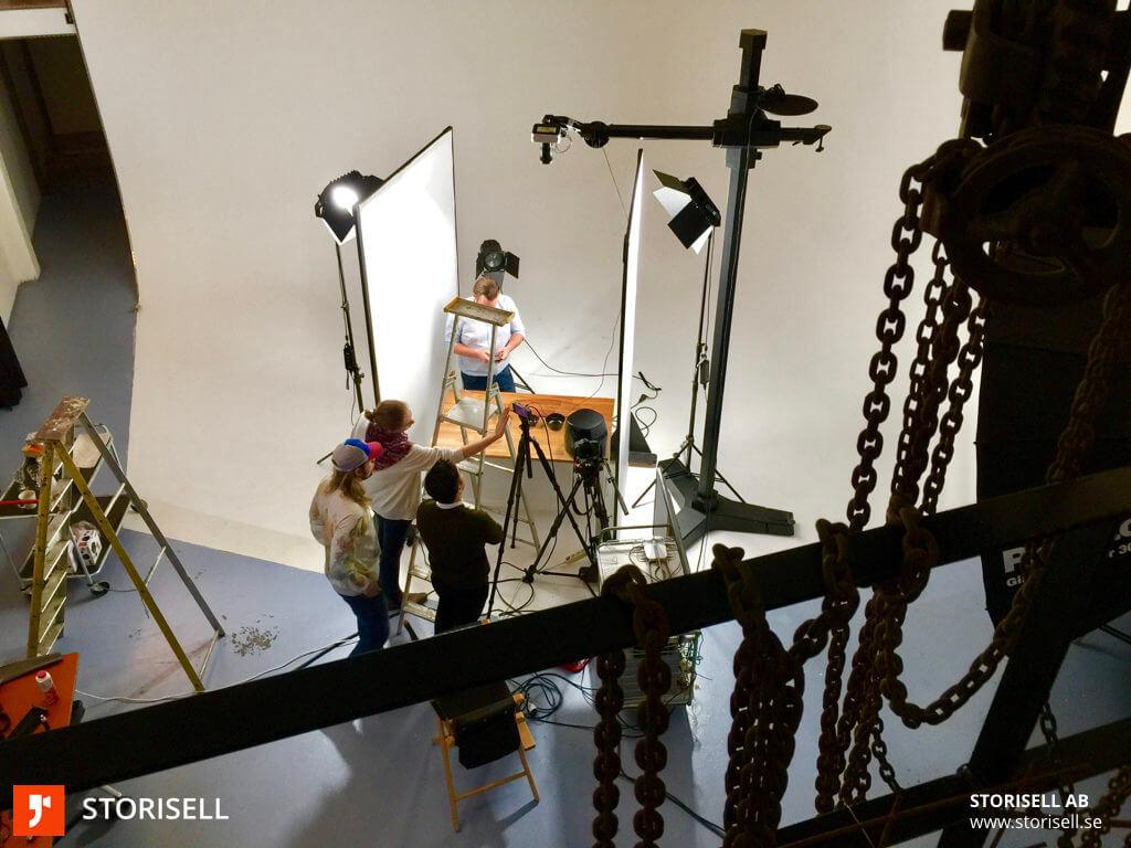 Vårt team på Storisell i studion med Philips. Läs vårt kundcase: www.storisell.se/portfolio/paf