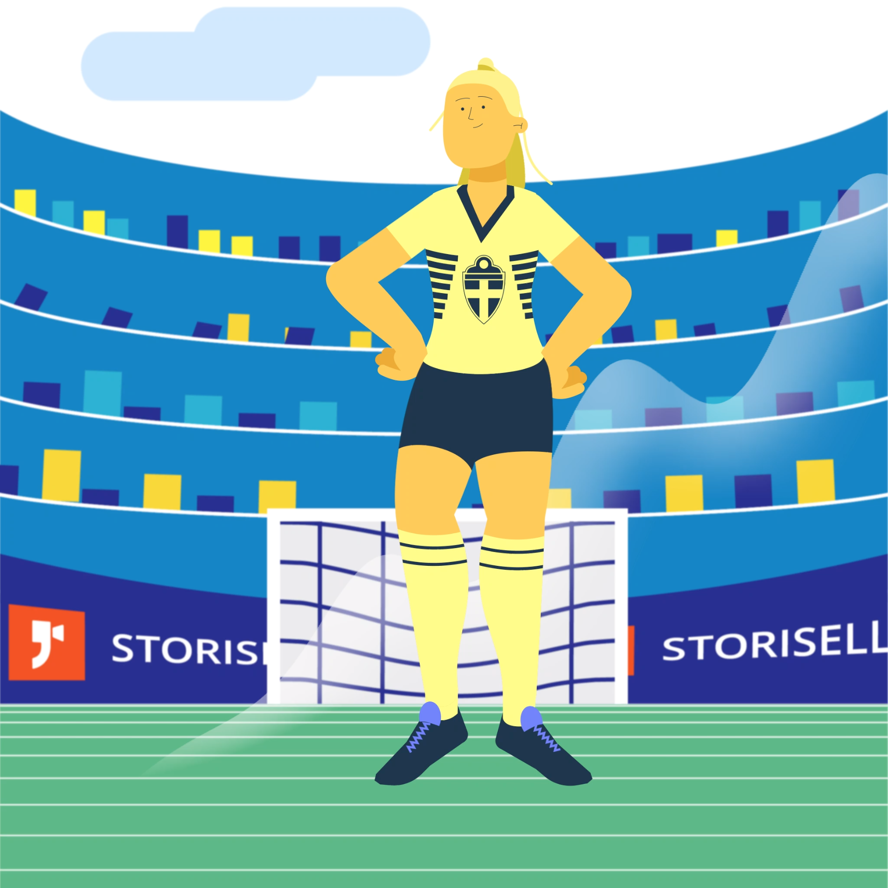 Storisell önskar damlandslaget lycka till i VM